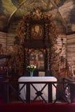 Een houten kerk bij Lets Nationaal Museum Royalty-vrije Stock Foto