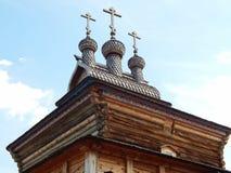 Een houten kerk van Heilige George, Kolomenskoye, Moskou Stock Foto's
