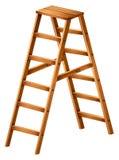 Een houten ladder Royalty-vrije Stock Foto's