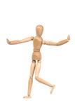 Een houten ledenpop gesticuleert Royalty-vrije Stock Afbeelding