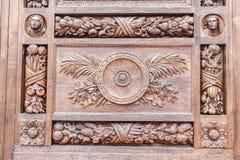 Een houten plank met een patroon. Stock Foto