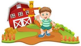 Een hoy oogstgroente bij landbouwbedrijf stock illustratie
