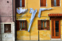 Een huis in Italië, verschillende wiev Stock Foto's