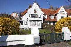 Een huis in Knokke, België Stock Afbeeldingen