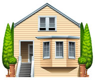Een huis met houseplants Royalty-vrije Stock Foto