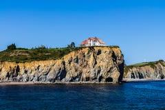 Een huis op de kust van de rivier van Heilige Lawrence Royalty-vrije Stock Fotografie