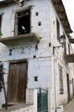 Een huis in ruïne Stock Foto