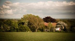 Een huis tussen bomen Royalty-vrije Stock Afbeelding