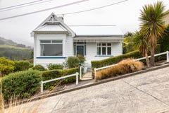 Een huis in zeer steil Baldwin Road royalty-vrije stock afbeelding