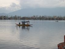 Een huisboot in Kashmir royalty-vrije stock afbeelding