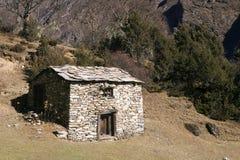 Een hut in Nepal Royalty-vrije Stock Afbeeldingen