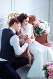 Een huwelijk in retro stijl Royalty-vrije Stock Fotografie