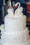 Een huwelijkscake Stock Foto's