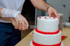 Een huwelijkscake Stock Foto
