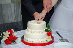 Een huwelijkscake Royalty-vrije Stock Fotografie