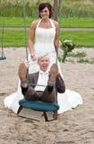 Een huwelijkspaar Royalty-vrije Stock Foto