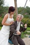 Een huwelijkspaar Stock Foto