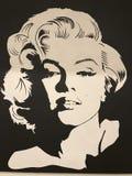 Een iconisch zwart & wit schot van Marilyn Monroe in haar eerste - PICTOGRAM - STER stock afbeelding