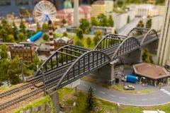 Een Iconische Oude de Spoorwegbrug van de Metaalbundel het groot-Onechte Museum is de stad van St. Petersburg Royalty-vrije Stock Foto's