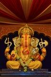 Een idool van Lord Ganesha, Pune, Maharashtra, India stock afbeeldingen