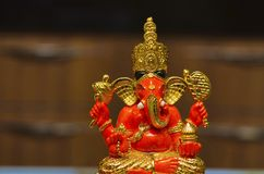 Een idool van Lord Ganesha, Pune, Maharashtra, India stock foto's