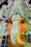 Een idool van Lord Ganesha, Pune, Maharashtra, India royalty-vrije stock foto