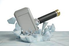 Een ijs van de hamerslag Stock Afbeeldingen