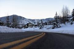 Een Ijzige Weg in Utah Stock Fotografie