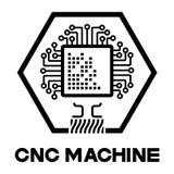een illustratie die uit verscheidene beelden van de bewerker en de machine met numerieke programmacontrole bestaan Stock Afbeelding