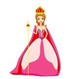 beeldverhaal koningin Stock Afbeeldingen