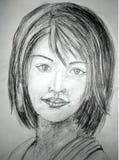 Een Illustratie van de potloodschets Schetstekening stock afbeeldingen