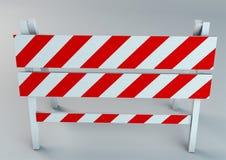 Een illustratie van de illustratie van de verkeersschraag Stock Foto
