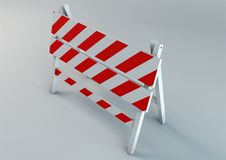 Een illustratie van de illustratie van de verkeersschraag Stock Fotografie