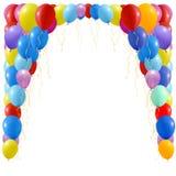 Een illustratie van een reeks kleurrijke ballons Royalty-vrije Stock Foto