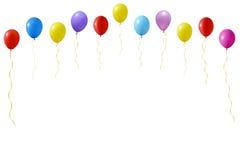Een illustratie van een reeks kleurrijke ballons Stock Foto's