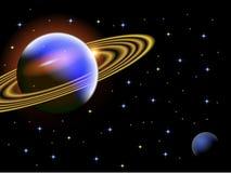 Een illustratie van een ruimtescène Royalty-vrije Stock Foto's