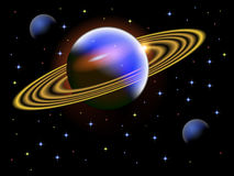 Een illustratie van een ruimtescène Royalty-vrije Stock Afbeeldingen