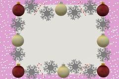 Een illustratiebeeld van een de groetkaart van het Kerstmisseizoen stock illustratie