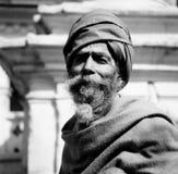 Een Indiër ascetisch in een plaats van de werelderfenis in Nepal Royalty-vrije Stock Afbeeldingen