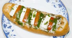 Een Indische Hotdog Stock Afbeelding
