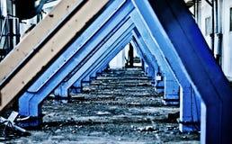 Een industriële tunnel Stock Foto's