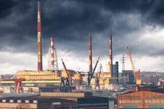 Een industriezone Stock Foto's
