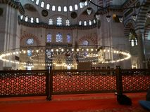 Een interne spruit voor Sulaimani-moskee stock foto