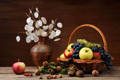 Een inzameling van diverse vruchten stock afbeeldingen