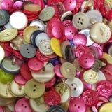 Een inzameling van helder gekleurde knopen Stock Afbeelding