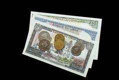 Een inzameling van Libanese rekeningen stock foto