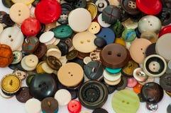 Een inzameling van oude knopen, Stock Fotografie