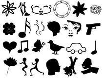 Een inzameling van pictogrammen Stock Foto's