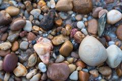 Een inzameling van rotsen op Moana-Strand in Zuid-Australië Royalty-vrije Stock Fotografie