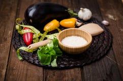 Een inzameling van vegetariër (plaat met groenten) Royalty-vrije Stock Afbeeldingen
